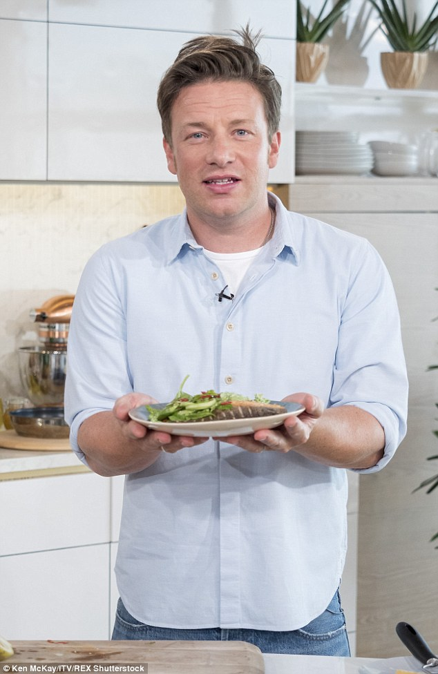 Jamie said dishes like this including fish and vegetables are 'nutritious and delicious'