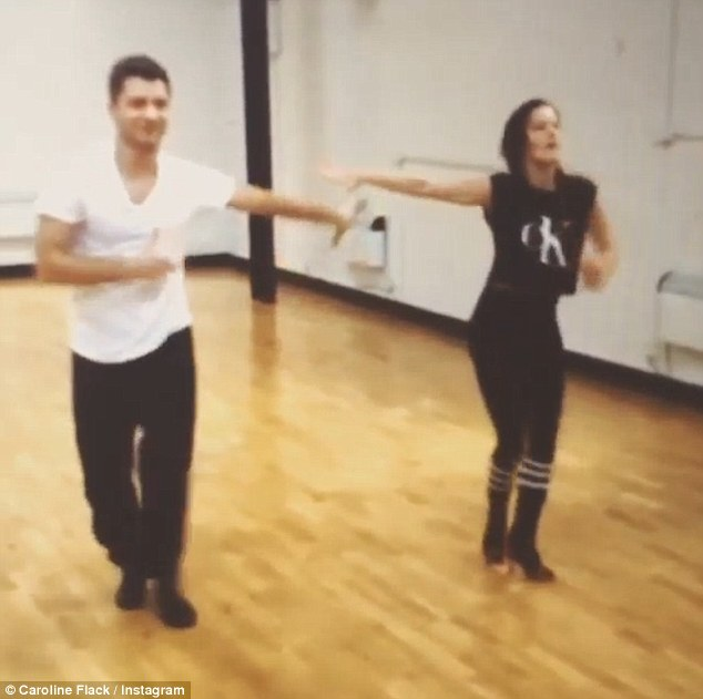Busy girl! The X Factor host has been hard at work rehearsing for her Strictly Come Dancing return