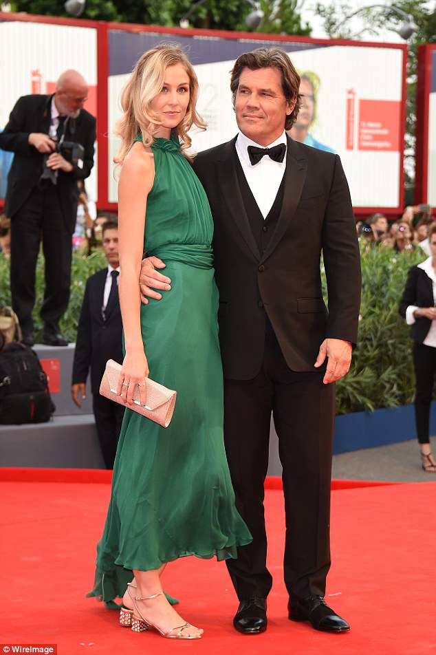 Pure elegance: The twosome were a glamorous sight when they attended the Venice Film Festival on Wednesday in Italy