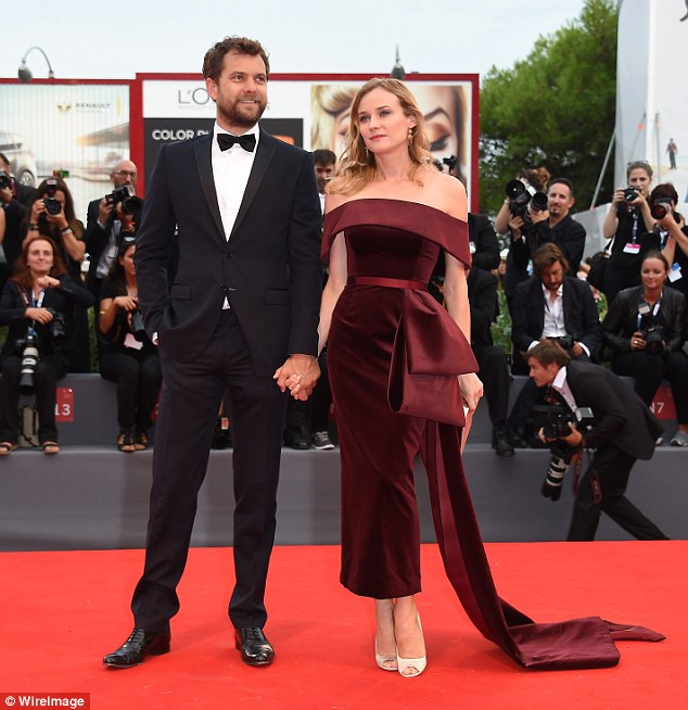 Wow: On Friday evening, Diane looked an absolute knockout in a red velvet caped dress as she walked the red carpet at the Black Mass premiere in Venice, alongside long-term boyfriend Joshua Jackson