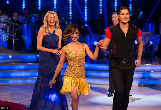 Heating up: Anita Rani looked to get a little hot under the collar when she found out she would be capering with hunky - and extremely confident - newcomer Gleb Savchenko