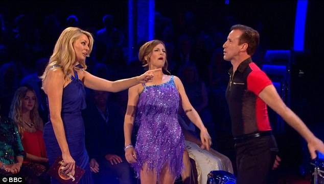 Winning team? BBC proms presenter Katie Derham will dance with Strictly original Anton du Beke, who complimented the star's moves during previous rehearsal