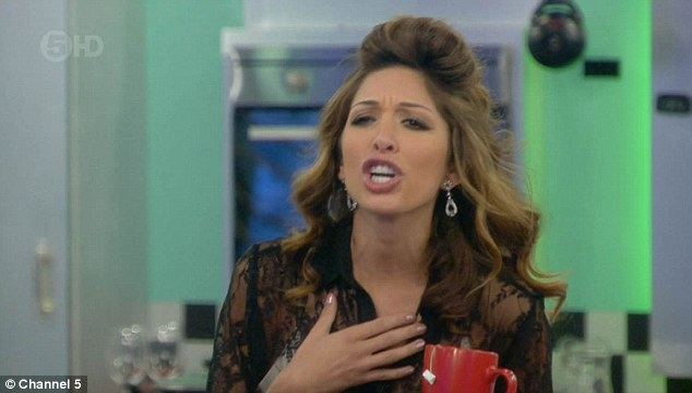 Angry:The fight quickly escalated with Farrah soon hurling insults at Natasha and telling her not to talk about her family in the house