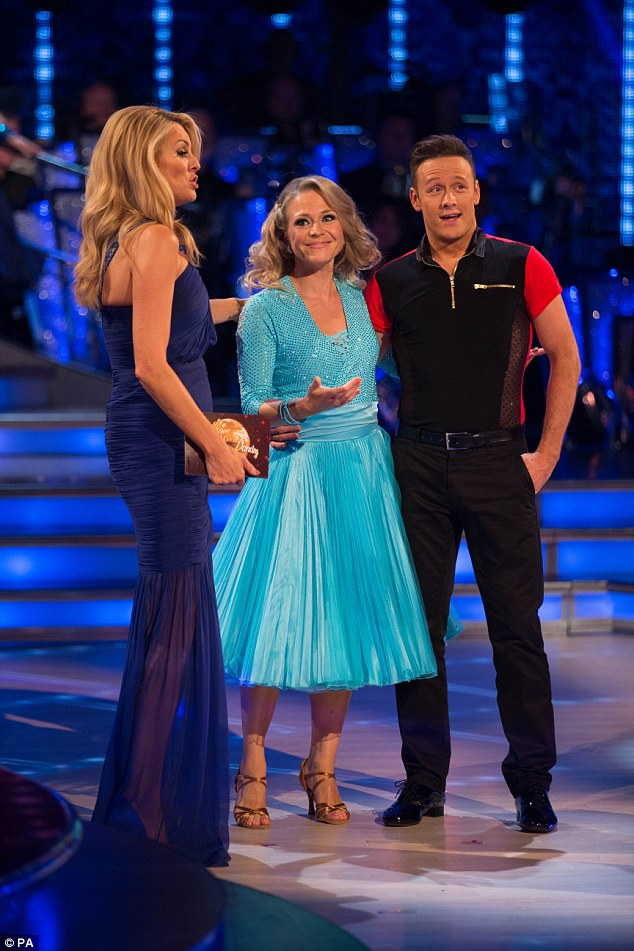 Long way from Walford! EastEnders star Kellie Bright was coupled with Kevin Clifton, with each giving a delighted cheer at the reveal