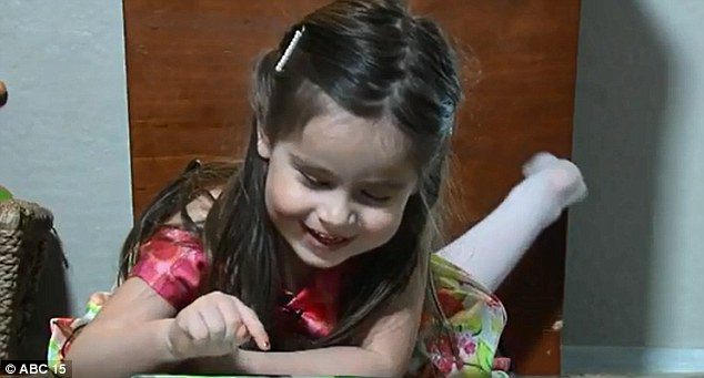 Genius: At three-years-old Alexis Martin has become the youngest person in Arizona ever accepted into Mensa