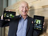 Amazon.com founder and chief executive officer (CEO) Jeff Bezos introduces the all-new Kindle Fire HDX 8.9'' (R) and Kindle Fire HDX 7'' tablet in Seattle, Washington, USA.  IMAGE DISTRIBUTED FOR AMAZON In this image distributed on Tuesday, Sept. 24, 2013,