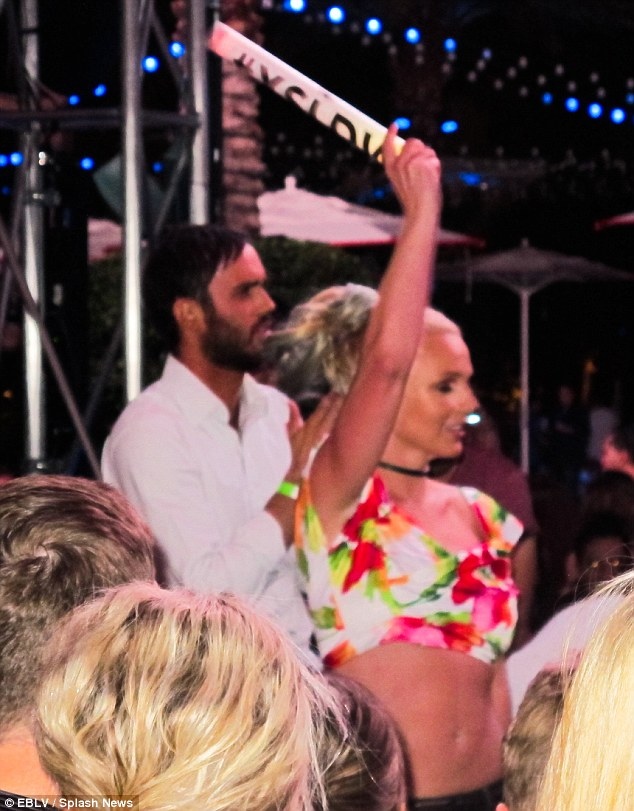 Party girl:The singer danced energetically to a Michael Jackson track with Cade