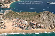 Aerial view of Grand Solmar Land's End in Cabo San Lucas, Mexico - 2012