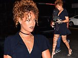 Rihanna was spotted arriving to the first of 3 sold out Travis Scott concerts at NYC's Gramercy Theatre. She strutted into the venue in a black romper, with heels that laced all the way up her long legs.\n\nPictured: Rihanna\nRef: SPL1119140  070915  \nPicture by: 247PAPS.TV / Splash News\n\nSplash News and Pictures\nLos Angeles: 310-821-2666\nNew York: 212-619-2666\nLondon: 870-934-2666\nphotodesk@splashnews.com\n