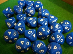 Opaque Blue Dice