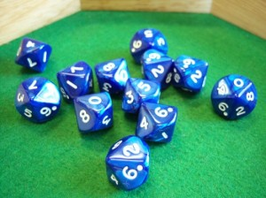 Pearlized Navy Dice