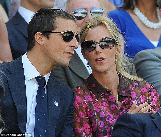 Business empire:Bear Grylls (pictured with wife Shara)saw £3.3million profits from his UK merchandising arm last year