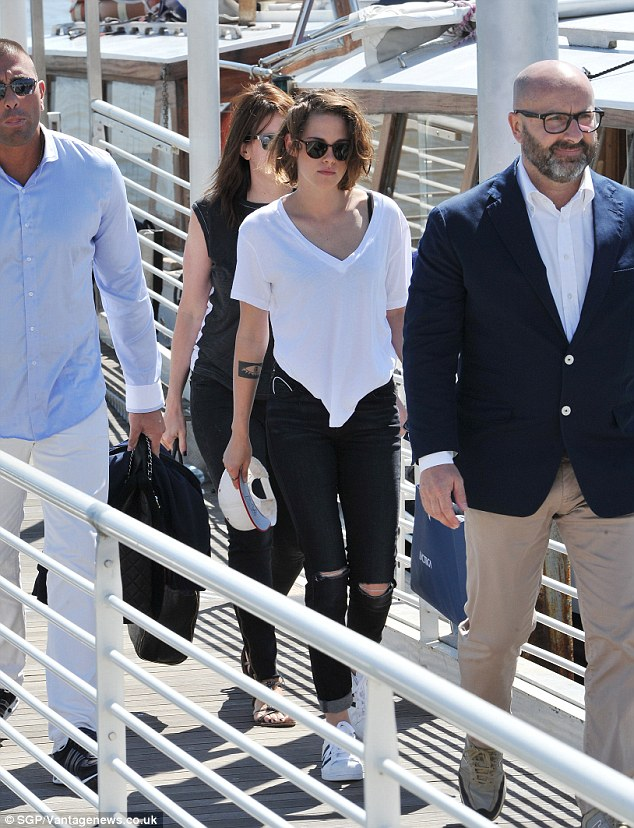 Ciao Bella: Kristen Stewart, 25, was spotted leaving Venice on Sunday after the 72nd Venice Film Festival