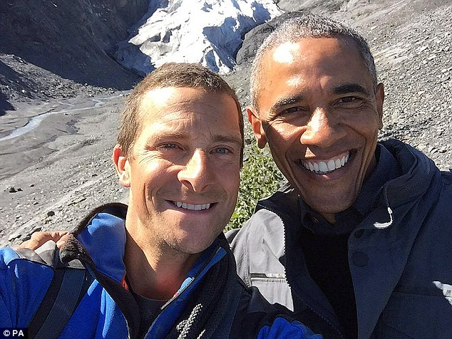Almost unknown a decade ago, his star has risen so high that his latest show, Running Wild with Bear Grylls, boasts Kate Winslet, 39, and Barack Obama (pictured with the former SAS soldier), 54, as guests