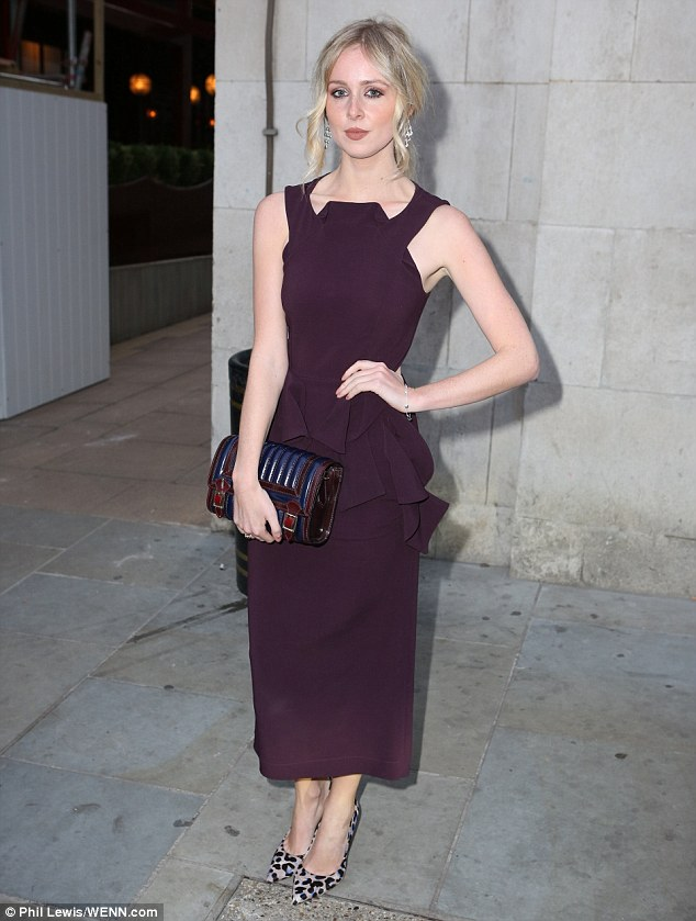 Blonde beauty: Diana Vickers also attended, and looked incredibly classy in a plum-coloured gown, with a peplum hem and a structured neckline