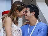epa04919104 US actress Katherine McPhee (L) and British actor Elyes Gabel in the stands as Stan Wawrinka of Switzerland plays Donald Young of the US during their match on the eighth day of the 2015 US Open Tennis Championship at the USTA National Tennis Center in Flushing Meadows, New York, USA, 07 September 2015. The US Open runs through 13 September, which is a return to a 14-day schedule.  EPA/ANDREW GOMBERT