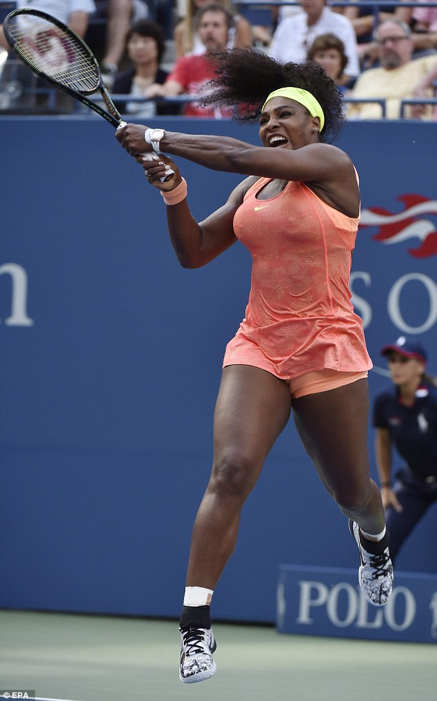Big chance: Muscular Serena just needs to win the US Open to complete a calender grand slam