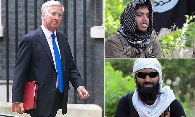 Defence Secretary Michael Fallon reveals there are more terrorists in Syria who could be