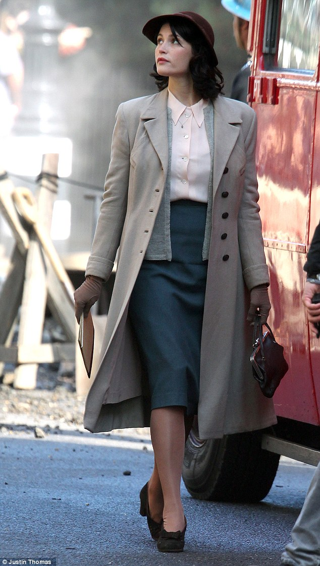 Busy girl! Gemma Arterton has wasted no time getting back into her work following her divorce, as the actress was seen on the set of the new period drama Their Finest Hour and a Half in London on Sunday