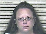 epa04911995 A Carter County Detention Center handout image released 03 September 2015 shows Rowan County Kentucky Clerk Kim Davis in a booking photo after being put in jail for contempt of court for refusing several court orders to start issuing marriage licenses in Rowan County, Kentucky, USA, 03 September 2015. The US Supreme Court ruled in June 2015 that gay couples had a constitutional right in the US to get married.  EPA/CARTER COUNTY DETENTION CENTER /  HANDOUT EDITORIAL USE ONLY/NO SALES