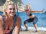 """All the pictures should be credited to Max Lawless/No 1 Boot Camp. No charge for pictures and I am fine to distribute.  Former Pussycat Doll Ashley Roberts is given a tough time at a Military fitness camp but admits: """"I wanted to get my ass kicked!"""" * Star lost 4lbs training at No 1 Boot Camp in Ibiza; * She got in shape as rumours mount that the American girl group are set to reform three years after splitting; * Ashley lost weight in yoga sessions on the cliffs overlooking an idyllic bay and tough circuits on the beach with an ex-Royal Navy instructor; * Fitness boot camp was a lot more pleasant than the jungle where the food was 'atrocious.'   Pussycat Dolls singer Ashley Roberts is put through her paces by a former Royal Navy fitness instructor but she admitted: """"I wanted to get my ass kicked."""" The blonde beauty trainer told the instructors at No 1 Boot Camp in Ibiza to go really hard on her as she spent a week at the exclusive retreat getting in shape. Ashley, 33, said her boot c"""