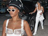 EXCLUSIVE: Rihanna goes shopping in an all white outfit in TriBeCa with friend Melissa.\n\nPictured: Rihanna\nRef: SPL1114633  070915   EXCLUSIVE\nPicture by: @PapCultureNYC / Splash News\n\nSplash News and Pictures\nLos Angeles: 310-821-2666\nNew York: 212-619-2666\nLondon: 870-934-2666\nphotodesk@splashnews.com\n