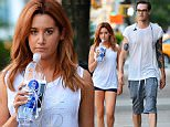 142028, Ashley Tisdale and husband Christopher French seen out and about in East Village, NYC. New York, New York - Monday September 7, 2015. Photograph: © PacificCoastNews. Los Angeles Office: +1 310.822.0419 sales@pacificcoastnews.com FEE MUST BE AGREED PRIOR TO USAGE