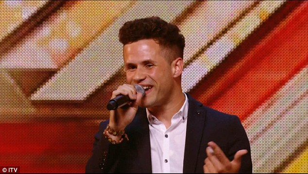 Won them over: But somehow Jamie made it through to boot camp after being given a second chance by Simon with his rendition of Mark Ronson and Bruno Mars' Uptown Funk