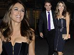 Mandatory Credit: Photo by Stephen Coke/REX Shutterstock (5048021c)\n Elizabeth Hurley and Arun Nayar\n Amanda Wakeley 25th Anniversary Party, Harry's Bar, London, Britain - 07 Sep 2015\n \n