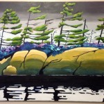 Darren Marziali recent painting from a sketch i did while canoeing in Algonquin. always loved the pines in this area of Ontario!
