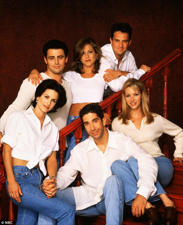 The series that made her rich and famous: Kudrow with (clockwise from bottom_ David Schwimmer, Courteney Cox, Matt LeBlanc, Jennifer Aniston and Matthew Perry
