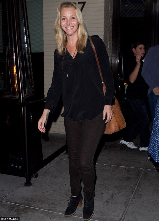 She's still got it:The blonde beauty appeared to have no makeup on as she left the eatery, where Mariah Carey and Gwyneth Paltrow often frequent. The Comeback star appeared far younger than her 52 years with clear skin and a radiant smile as well as a slender frame