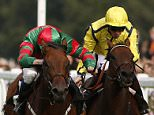 ASCOT, ENGLAND - SEPTEMBER 05: Jamie Spencer riding Right Touch (2R) win The Bibendum Wine Ltd Handicap Stakes at Ascot racecourse on September 05, 2015 in Ascot, England. (Photo by Alan Crowhurst/Getty Images)
