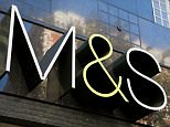 B5PY28 Marks and Spencer store logo