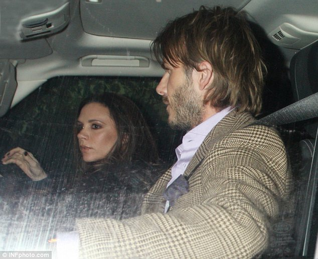 Taking the wheel: Although David drove to the party Victoria took the keys on the way back home