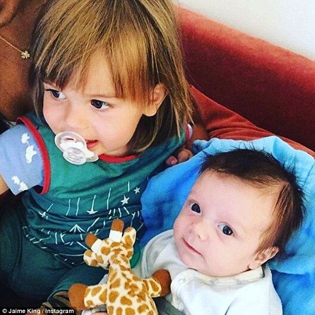 New addition: Baby Leo was born on July 16 and is seen in a sweet Instagram snap with hisolder brother James, who turns two next month