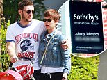 """Picture Shows: Jamie Bell, Kate Mara  September 04, 2015\n \n """"Fantastic Four"""" costars Kate Mara and Jamie Bell get cozy while stopping to check out a house for sale in Los Angeles, California with Jamie's son.\n \n Exclusive All Rounder\n UK RIGHTS ONLY\n Pictures by : FameFlynet UK © 2015\n Tel : +44 (0)20 3551 5049\n Email : info@fameflynet.uk.com"""