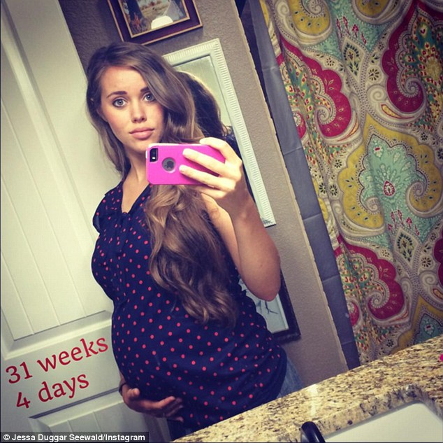 Mom-to-be: Jessa (above last week) is expecting her first child later this year