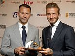 Beckham won the Legend of Football Award at the 20th Anniversary HMV Football Extravaganza
