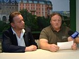 Piotr Koper, from Walbrzych, Poland, and Andreas Liechter, from Germany, appeared on television this morning to swear to the fact the train does exist