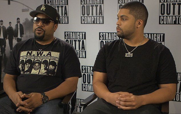 'She makes dope songs': Ice Cube told Daily Mail Australia on Friday in Sydney as he promoted Straight Outta Compton alongside his son O'Shea Jackson Jr that he was a fan of Aussie rapper Iggy Azalea