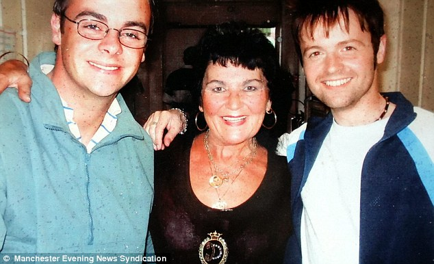 Friend of the stars: Pam with Alien Autopsy co-stars Ant and Dec. She has also worked with the likes of Tom Jones and Englebert Humperdinck - but resisted their charms