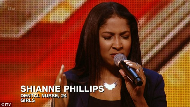 Fate in her hands: Shianne Phillips takes part in the audition stage for the ITV1 talent show The X Factor