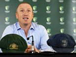 Australian cricket team wicket keeper Brad Haddin announces his retirement from the sport at the Sydney Cricket Ground, September 9, 2015. Haddin's retirement follows former Australian captains Michael Clarke and Shane Watson as well as opener Chris Rogers in stepping down after the Ashes series defeat.  REUTERS/Jason Reed