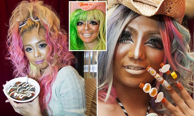 Ganguro fashion is back with Japanese women rocking extreme make up for a Tokyo bar