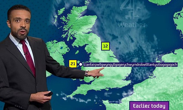 The weatherman who didn't get tongue-tied when the warmest place in Wales was