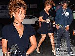 Rihanna and rumored boyfriend, Travis Scott were spotted spending the evening together in NYC on Monday. First she attended his sold out concert at the Gramercy Theatre. After the show they headed to dinner together at the Spotted Pig in the West Village before heading over to Griffin Nightclub together.  Pictured: Travis Scott Ref: SPL1119174  070915   Picture by: 247PAPS.TV / Splash News  Splash News and Pictures Los Angeles: 310-821-2666 New York: 212-619-2666 London: 870-934-2666 photodesk@splashnews.com