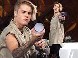 "NEW YORK, NY - SEPTEMBER 08:  Justin Bieber attends ""The Ellen Degeneres Show"" Season 13 Bi-Coastal Premiere at Rockefeller Center on September 8, 2015 in New York City.  (Photo by Laura Cavanaugh/FilmMagic)"