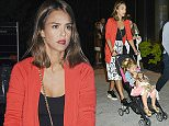 8.SEPTEMBER.2015 - NEW YORK - USA *STRICTLY AVAILABLE FOR UK AND GERMANY USE ONLY* AMERICAN ACTRESS JESSICA ALBA PUSHES DAUGHTER HAVEN GARNER WARREN IN A STROLLER WHILE THEY VISIT NYC.   BYLINE MUST READ : XPOSUREPHOTOS.COM ***UK CLIENTS - PICTURES CONTAINING CHILDREN PLEASE PIXELATE FACE PRIOR TO PUBLICATION *** *UK CLIENTS MUST CALL PRIOR TO TV OR ONLINE USAGE PLEASE TELEPHONE 0208 344 2007*