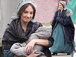 Picture Shows: Joanne Froggatt  September 08, 2015    Actors Alun Armstrong and Joanne Froggatt are spotted on the set of 'Dark Angel', which began filming today in Saltburn, Teesside.    Joanne will star as the infamous Victorian serial killer Mary Ann Cotton in the upcoming ITV drama. Mary Ann Cotton is known as being Britain's first female serial killer who is believed to have murdered at least twenty victims, including eleven of her own children, by poisoning in the 1800s. Joanne is most well-known for starring as the kind-hearted servant Anna Bates in the period drama 'Downton Abbey'.    Non Exclusive  WORLDWIDE RIGHTS  FameFlynet UK � 2015  Tel : +44 (0)20 3551 5049  Email : info@fameflynet.uk.com